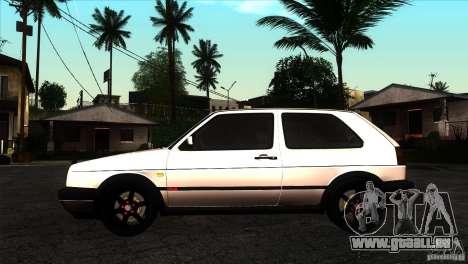 VW Golf 2 pour GTA San Andreas laissé vue
