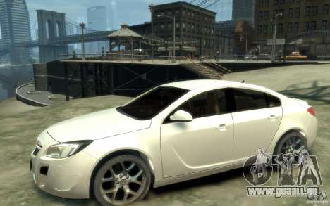 Opel Insignia OPC 2010 pour GTA 4 est une gauche