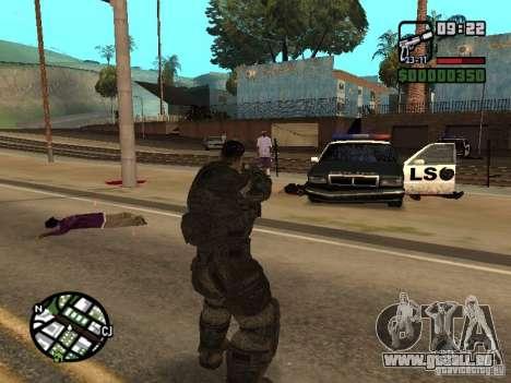 Dominic Santiago de Gears of War 2 pour GTA San Andreas troisième écran