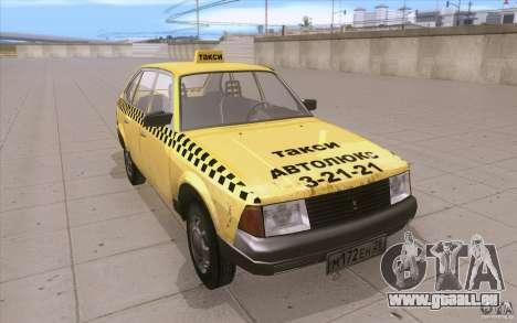 2141 Moskvitch AZLK Taxi v2 pour GTA San Andreas vue arrière
