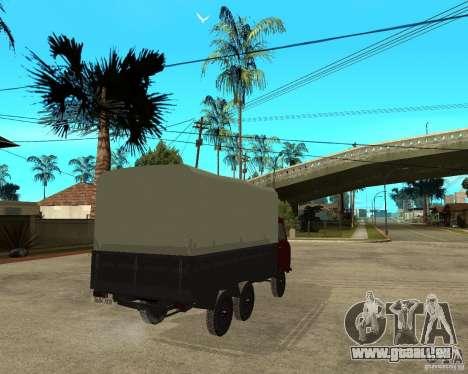 UAZ 452 Ladung 6 x 6 für GTA San Andreas zurück linke Ansicht