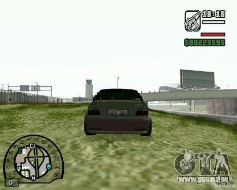 BMW E36 Wide Body Drift pour GTA San Andreas sur la vue arrière gauche