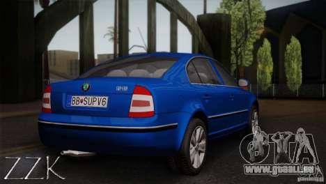 Skoda Superb 2006 pour GTA San Andreas vue arrière