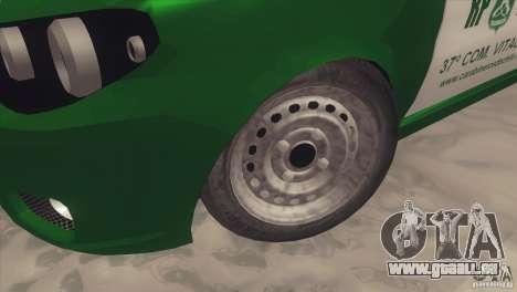 Fiat Siena Carabineros De Chile pour GTA San Andreas vue arrière