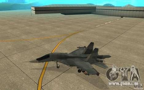 Le Su-34 pour GTA San Andreas sur la vue arrière gauche