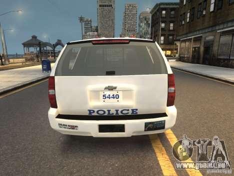 Chevrolet Tahoe NYPD V.2.0 pour GTA 4 Vue arrière de la gauche