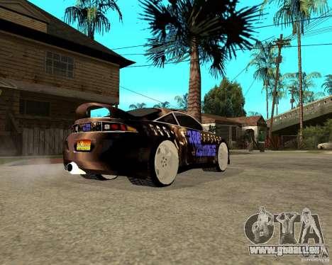 Mitsubishi Eclipse RZ 1998 pour GTA San Andreas sur la vue arrière gauche