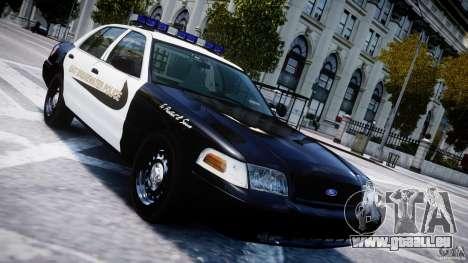 Ford Crown Victoria Massachusetts Police [ELS] für GTA 4 obere Ansicht