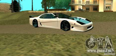 New Turismo pour GTA San Andreas sur la vue arrière gauche