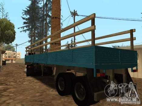 Trailer für Kamaz 5410 für GTA San Andreas linke Ansicht
