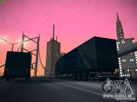 Remorque pour Scania R620 Dubaï Trans pour GTA San Andreas vue intérieure