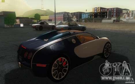 Bugatti Veyron 16.4 Grand Sport Sang Bleu pour GTA San Andreas sur la vue arrière gauche
