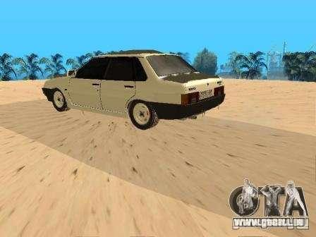 VAZ 21099 hiver pour GTA San Andreas sur la vue arrière gauche