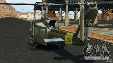 Bell UH-1 Iroquois pour GTA 4 Vue arrière de la gauche