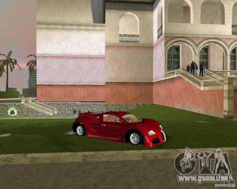 Bugatti Veyron pour GTA Vice City sur la vue arrière gauche