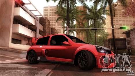 Renault Clio V6 Sport Track Car für GTA San Andreas rechten Ansicht