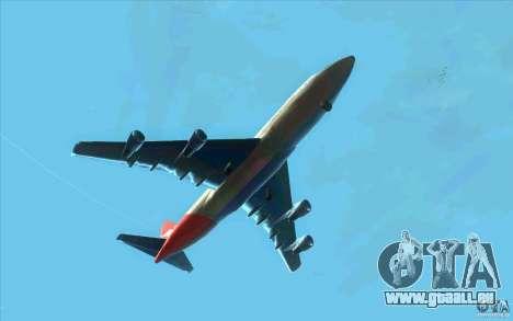 Boeing Qantas 747-400 für GTA San Andreas Rückansicht