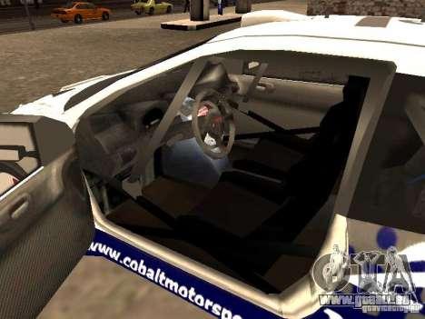 Peugeot 206 WRC de Richard Burns Rally pour GTA San Andreas sur la vue arrière gauche