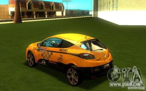 Renault Megane RS pour GTA San Andreas laissé vue