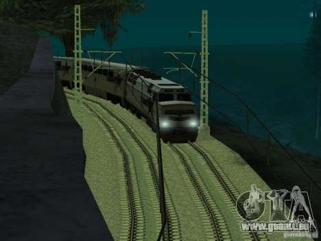Haute vitesse de la ligne de chemin de fer pour GTA San Andreas quatrième écran