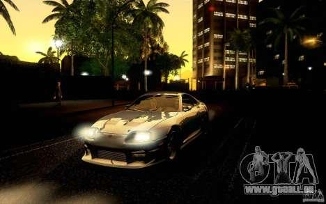 Toyota Supra Top Secret für GTA San Andreas obere Ansicht