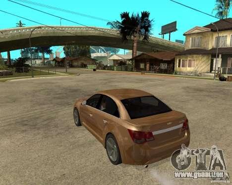 Chevrolet Cruze pour GTA San Andreas laissé vue