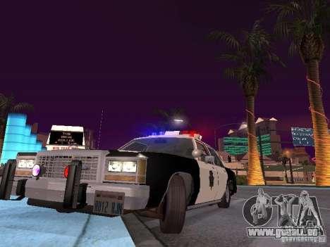 Ford LTD Crown Victoria Interceptor LAPD 1985 pour GTA San Andreas vue intérieure