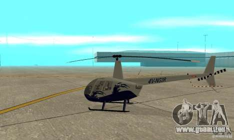 Robinson R44 Raven II NC 1.0 Haut 4 für GTA San Andreas zurück linke Ansicht