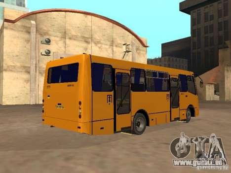 BOGDAN A 09202 pour GTA San Andreas vue arrière