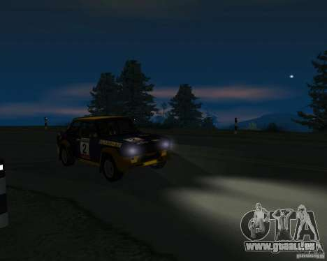 Fiat 131 Rally für GTA San Andreas Rückansicht