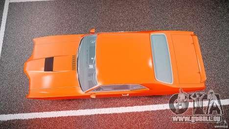 Mercury Cyclone Spoiler 1970 pour GTA 4 vue de dessus