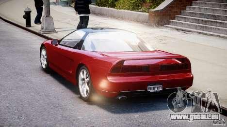 Acura NSX 1991 pour GTA 4 est une vue de l'intérieur