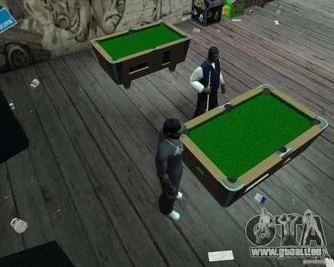 Nouvelle table de billard pour GTA San Andreas troisième écran