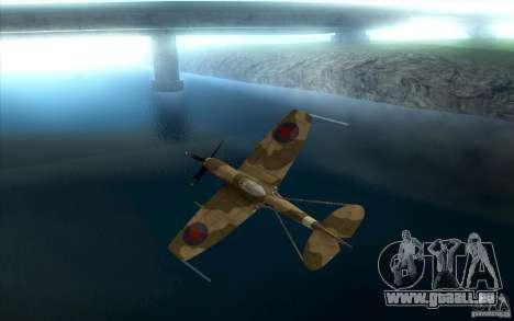 Spitfire pour GTA San Andreas vue arrière