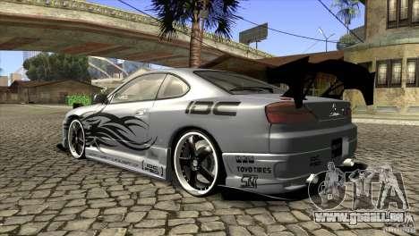 Nissan Silvia S15 Logan pour GTA San Andreas sur la vue arrière gauche