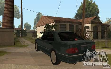 Mercedes-Benz E420 W210 1997 für GTA San Andreas zurück linke Ansicht