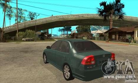 Honda Civic 2005 pour GTA San Andreas sur la vue arrière gauche