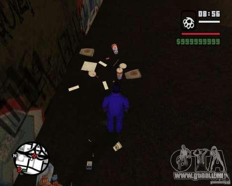 Clochards dans la ruelle pour GTA San Andreas cinquième écran