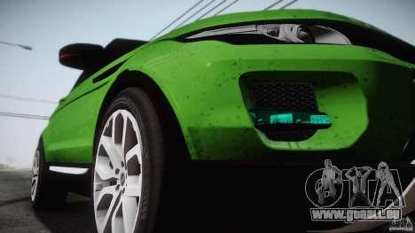 Land Rover Range Rover Evoque v1.0 2012 pour GTA San Andreas laissé vue