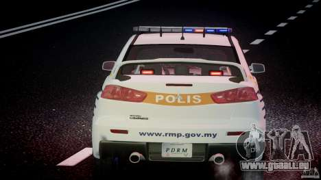 Mitsubishi Evolution X Police Car [ELS] pour GTA 4 Salon