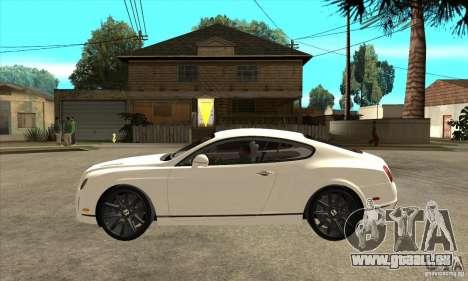 Bentley Continental Supersports pour GTA San Andreas laissé vue