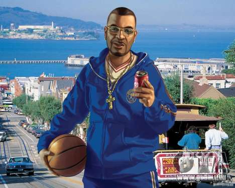 Écran de démarrage à San Francisco pour GTA 4