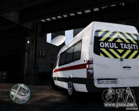 Volkswagen Crafter Turkish Schoolbus für GTA 4 rechte Ansicht