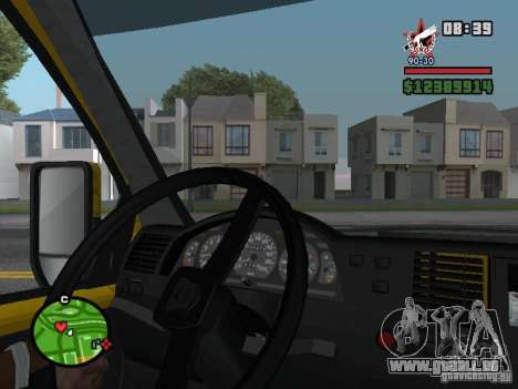 Aktives dashboard für GTA San Andreas
