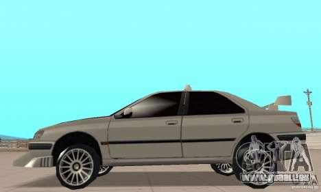 Peugeot 406 TAXI für GTA San Andreas zurück linke Ansicht