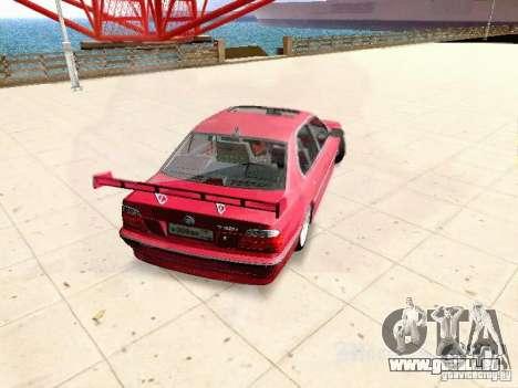 BMW 740i Tuned For Drift pour GTA San Andreas sur la vue arrière gauche