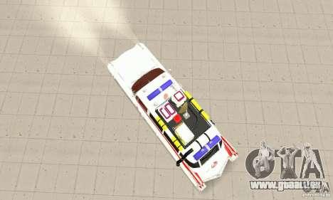 Ghostbusters ECTO 1 pour GTA San Andreas sur la vue arrière gauche