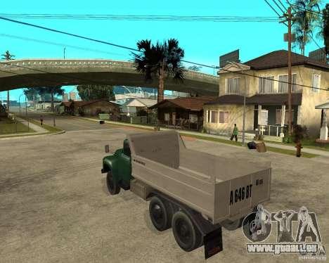 Camion à benne basculante 133 ZIL pour GTA San Andreas laissé vue