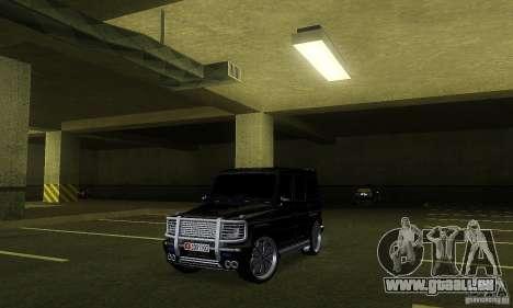 Mercedes Benz G500 ART FBI pour GTA San Andreas laissé vue