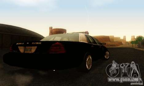 Ford Crown Victoria Wyoming Police pour GTA San Andreas laissé vue